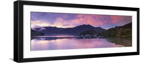 Ngakuta Bay, Queen Charlotte Sound, Marlborough Sounds, South Island, New Zealand-Doug Pearson-Framed Art Print