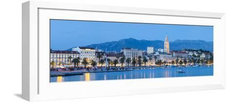 St. Domnius Cathedral Bell Tower and Stari Grad Illuminated, Split, Central Dalmatia, Croatia-Doug Pearson-Framed Art Print