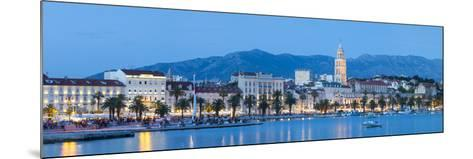 St. Domnius Cathedral Bell Tower and Stari Grad Illuminated, Split, Central Dalmatia, Croatia-Doug Pearson-Mounted Photographic Print