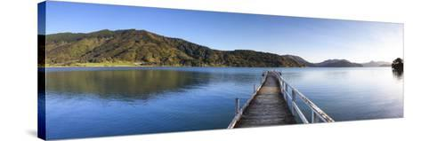 Picturesque Wharf in the Idyllic Kenepuru Sound, Marlborough Sounds, South Island, New Zealand-Doug Pearson-Stretched Canvas Print