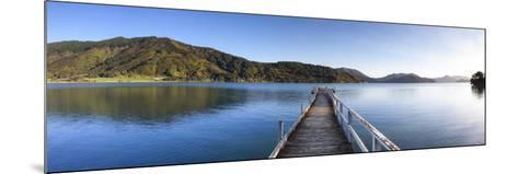 Picturesque Wharf in the Idyllic Kenepuru Sound, Marlborough Sounds, South Island, New Zealand-Doug Pearson-Mounted Photographic Print