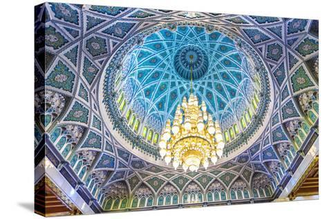 Oman, Muscat. the World's Largest Swarovski Cyrstal Chandelier in the Main Prayer Hall-Matteo Colombo-Stretched Canvas Print