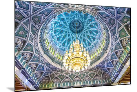 Oman, Muscat. the World's Largest Swarovski Cyrstal Chandelier in the Main Prayer Hall-Matteo Colombo-Mounted Photographic Print