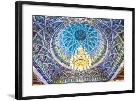 Oman, Muscat. the World's Largest Swarovski Cyrstal Chandelier in the Main Prayer Hall-Matteo Colombo-Framed Art Print