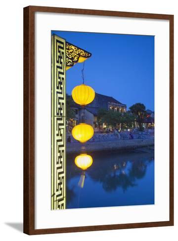 Hoi an at Dusk, Hoi an (Unesco World Heritage Site), Quang Ham, Vietnam-Ian Trower-Framed Art Print