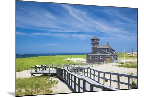 USA, Massachusetts, Cape Cod, Provincetown, Race Point Beach, Old Harbor Life-Saving Station-Walter Bibikow-Mounted Photographic Print
