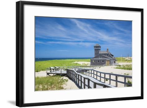 USA, Massachusetts, Cape Cod, Provincetown, Race Point Beach, Old Harbor Life-Saving Station-Walter Bibikow-Framed Art Print