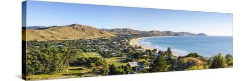 Elevated View over Wainui Beach, Gisborne, East Cape, North Island, New Zealand-Doug Pearson-Stretched Canvas Print