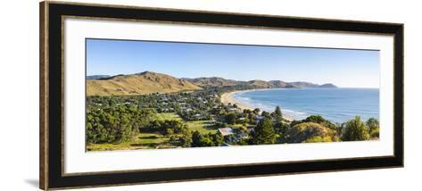 Elevated View over Wainui Beach, Gisborne, East Cape, North Island, New Zealand-Doug Pearson-Framed Art Print