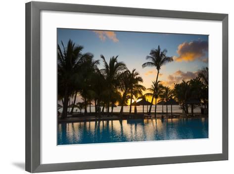Beachcomber Dinarobin Hotel, Le Morne Brabant Peninsula, Black River, West Coast, Mauritius-Jon Arnold-Framed Art Print