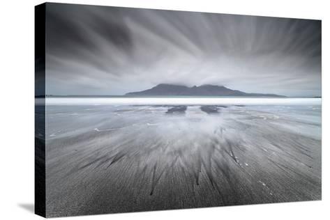 United Kingdom, Uk, Scotland, Highlands, Eigg Island, a Storm Approaching on Laig Bay-Fortunato Gatto-Stretched Canvas Print