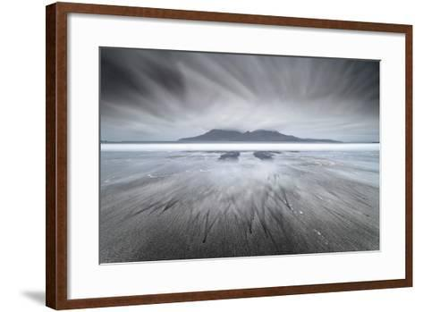 United Kingdom, Uk, Scotland, Highlands, Eigg Island, a Storm Approaching on Laig Bay-Fortunato Gatto-Framed Art Print