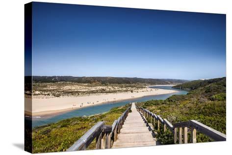 Footpath to the Beach, Praia Da Amoreira, Aljezur, Costa Vicentina, Algarve, Portugal-Sabine Lubenow-Stretched Canvas Print