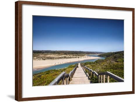 Footpath to the Beach, Praia Da Amoreira, Aljezur, Costa Vicentina, Algarve, Portugal-Sabine Lubenow-Framed Art Print
