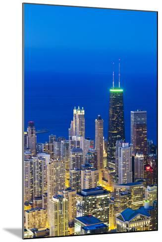 USA, Illinois, Chicago. Elevated Dusk View over the City from the Willis Tower.-Nick Ledger-Mounted Photographic Print