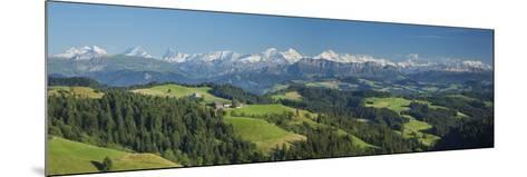 Emmental Valley and Swiss Alps in the Background, Berner Oberland, Switzerland-Jon Arnold-Mounted Photographic Print
