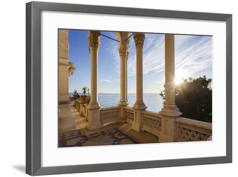 Italy, Friuli Venezia Giulia , Miramare Castle-Andrea Pavan-Framed Art Print