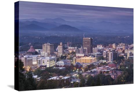USA, North Carolina, Asheville, Elevated City Skyline-Walter Bibikow-Stretched Canvas Print