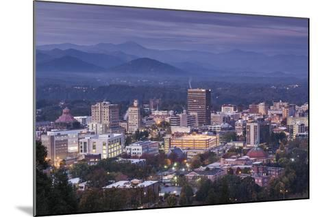 USA, North Carolina, Asheville, Elevated City Skyline-Walter Bibikow-Mounted Photographic Print