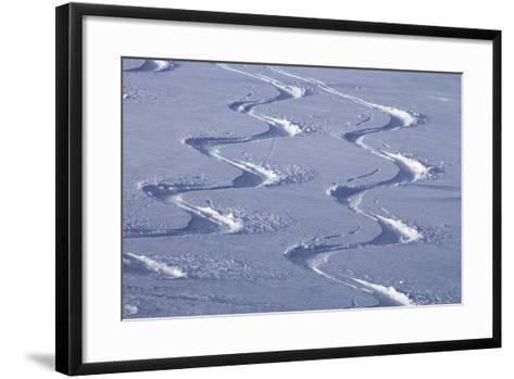 Deep Powder Snow, Ski Traces, Tyrol, Austria-Norbert Eisele-Hein-Framed Art Print