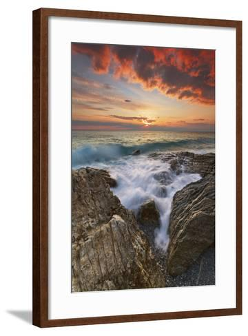 Italy, Calabria , Sunset at Leucopetra Cliff-Alfonso Morabito-Framed Art Print
