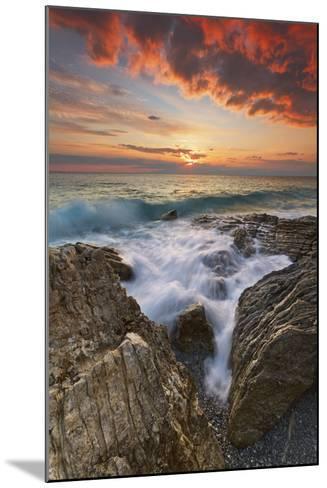 Italy, Calabria , Sunset at Leucopetra Cliff-Alfonso Morabito-Mounted Photographic Print