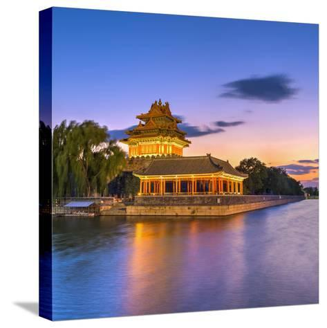 China, Beijing, Forbidden City, Palace Moat-Alan Copson-Stretched Canvas Print