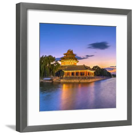 China, Beijing, Forbidden City, Palace Moat-Alan Copson-Framed Art Print