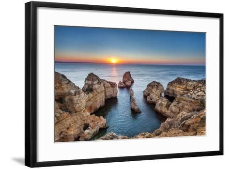 Sunrise, Ponta De Piedade, Lagos, Algarve, Portugal-Sabine Lubenow-Framed Art Print