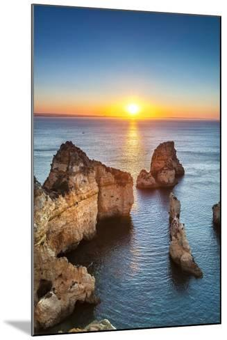 Sunrise, Ponta De Piedade, Lagos, Algarve, Portugal-Sabine Lubenow-Mounted Photographic Print