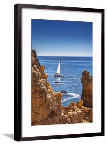 Sailing Boat, Ponta De Piedade, Lagos, Algarve, Portugal-Sabine Lubenow-Framed Art Print