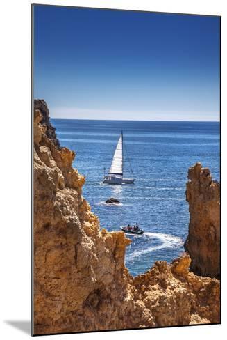 Sailing Boat, Ponta De Piedade, Lagos, Algarve, Portugal-Sabine Lubenow-Mounted Photographic Print