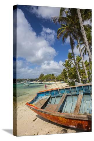 Beach at Trou D'Eau Douce, Flacq, East Coast, Mauritius-Jon Arnold-Stretched Canvas Print