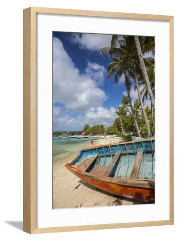 Beach at Trou D'Eau Douce, Flacq, East Coast, Mauritius-Jon Arnold-Framed Art Print
