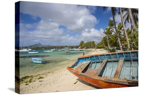 Beach at Trou D'Eau Douce, Flacq, East Coast, Mauritius-Jon Arnold-Stretched Canvas Print