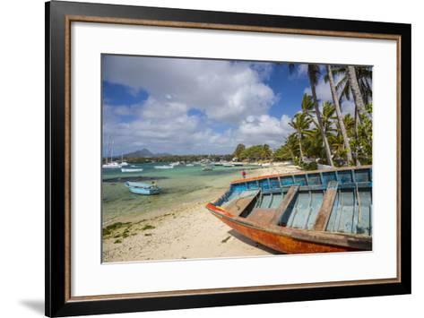 Beach at Trou D'Eau Douce, Flacq, East Coast, Mauritius-Jon Arnold-Framed Art Print