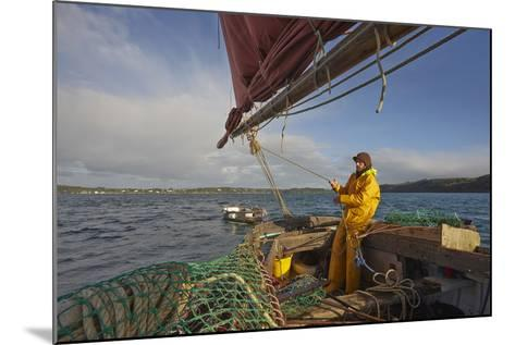Sailing an Oyster Dredger, in Carrick Roads, the Estuary of the River Fal, Near Falmouth, Cornwall-Nigel Hicks-Mounted Photographic Print