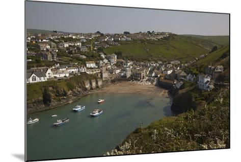 A View of the Harbor at Low Tide, at Port Isaac, Near Padstow, on the Atlantic Coast of Cornwall-Nigel Hicks-Mounted Photographic Print