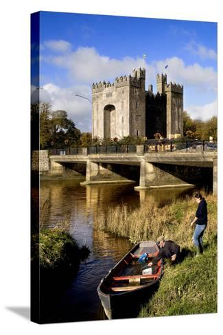 Boaters Along the Shannon River Near Bunratty Castle, County Clare, Ireland-Chris Hill-Stretched Canvas Print