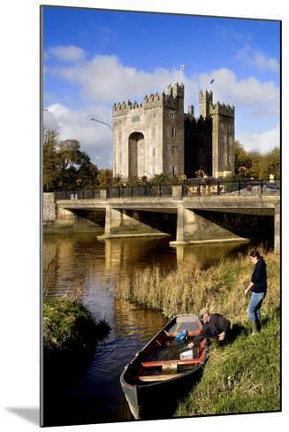 Boaters Along the Shannon River Near Bunratty Castle, County Clare, Ireland-Chris Hill-Mounted Photographic Print