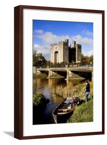 Boaters Along the Shannon River Near Bunratty Castle, County Clare, Ireland-Chris Hill-Framed Art Print