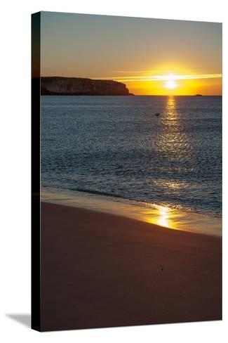 Sunrise at Martinhal Beach in Sagres, Algarve Province-Lola Akinmade Akerstrom-Stretched Canvas Print