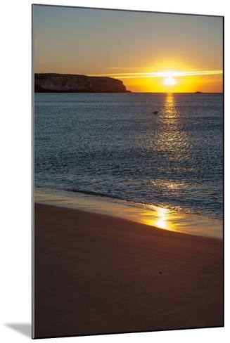 Sunrise at Martinhal Beach in Sagres, Algarve Province-Lola Akinmade Akerstrom-Mounted Photographic Print