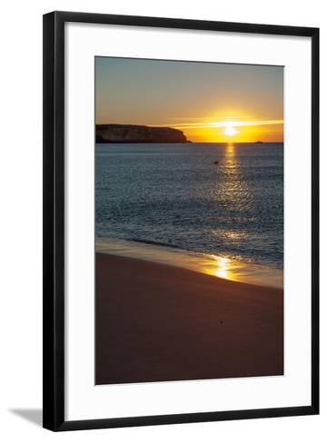 Sunrise at Martinhal Beach in Sagres, Algarve Province-Lola Akinmade Akerstrom-Framed Art Print