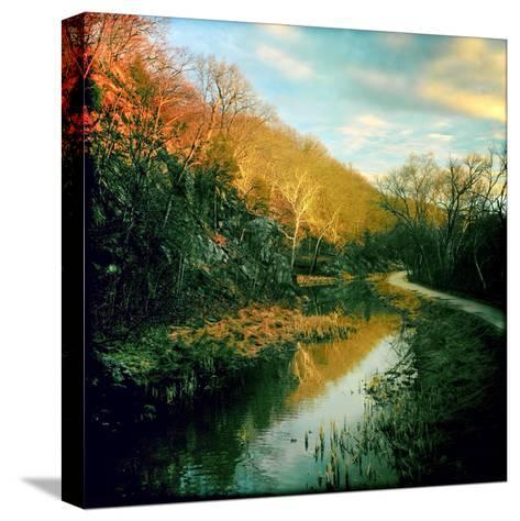 The C&O Canal Towpath Near Great Falls Historic Tavern-Skip Brown-Stretched Canvas Print
