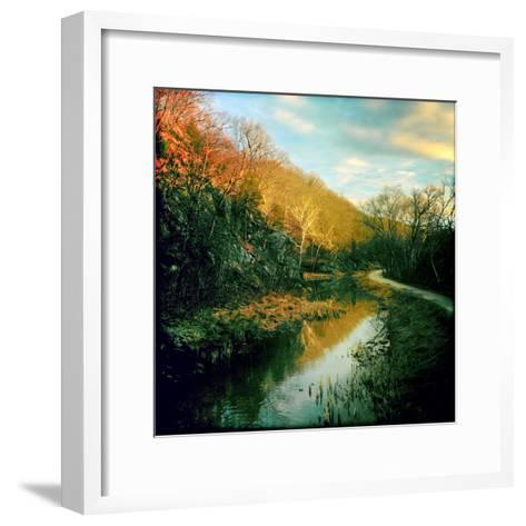 The C&O Canal Towpath Near Great Falls Historic Tavern-Skip Brown-Framed Art Print