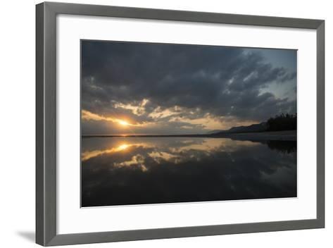 Calm Waters at Sunrise over the Alexandra Reefs, Port Douglas, Queensland-Michael Melford-Framed Art Print