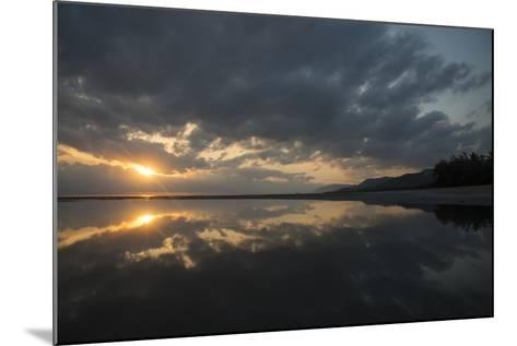 Calm Waters at Sunrise over the Alexandra Reefs, Port Douglas, Queensland-Michael Melford-Mounted Photographic Print