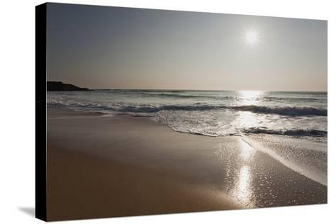 Surf at Constantine Bay, Shortly before Sunset, Near Padstow, Cornwall-Nigel Hicks-Stretched Canvas Print