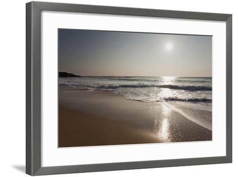 Surf at Constantine Bay, Shortly before Sunset, Near Padstow, Cornwall-Nigel Hicks-Framed Art Print